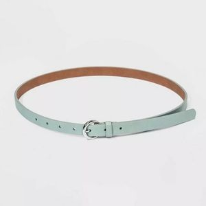 A New Day Skinny Belt Mint Color Silver Buckle